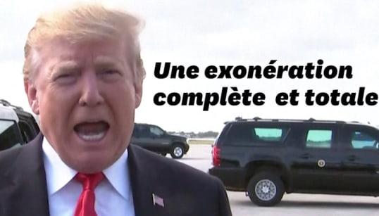 Trump se félicite d'être