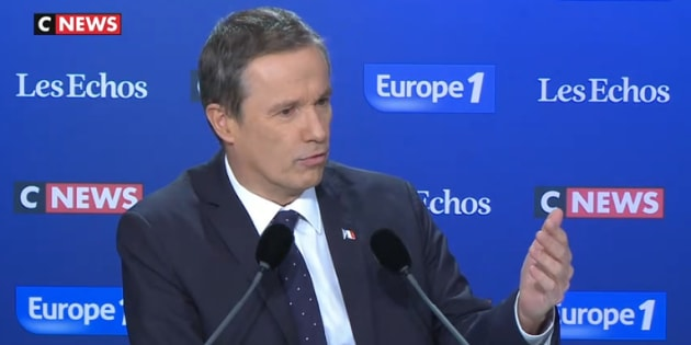 """Nicolas Dupont-Aignan aide les migrants """"en leur donnant à manger et en les expulsant"""""""