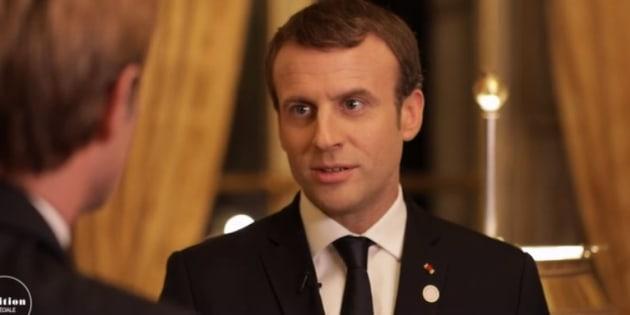 """Emmanuel Macron sur France 2 promet la victoire contre Daech en Syrie """"mi ou fin février""""."""
