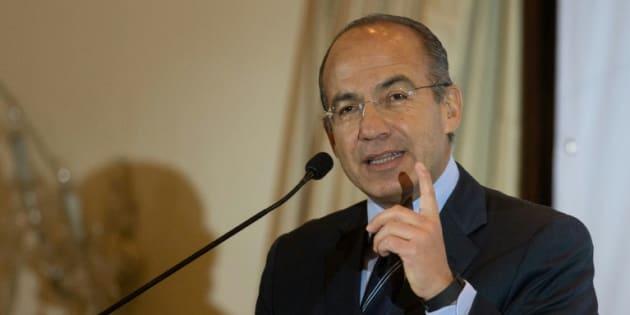 L'ancien président mexicain (2006-2012) Felipe Calderon à Caracas le 26 janvier 2015