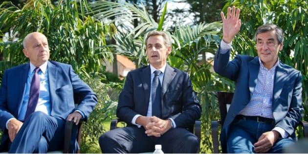 Alain Juppé, Nicolas Sarkozy et Francois Fillon en septembre 2015 à La Baule. AFP PHOTO / JEAN-SEBASTIEN EVRARD / AFP PHOTO / JEAN-SEBASTIEN EVRARD