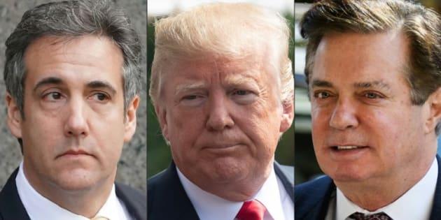 Photo d'illustration représentant Michael Cohen, Donald Trump et Paul Manafort.