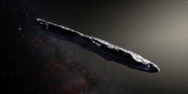 """La comète """"Oumuamua"""" a été repérée en 2017 lors de sa traversée du système solaire."""
