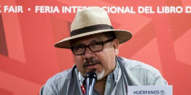 Javier Valdez en una presentación el 27 de noviembre de 2016 en Guadalajara.