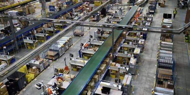 Le centre de distribution d'Amazon à Saran dans le Loiret.