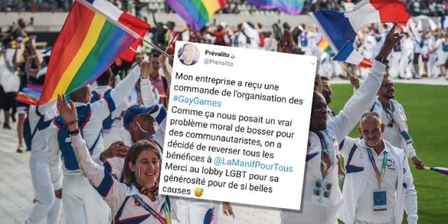 Les Gay Games annulent leur commande à une entreprise qui se vantait de reverser ses bénéfices à La Manif pour tous