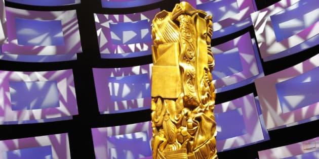 Le trophée des César sur la scène du théâtre du Châtelet, le 27 février 2010 à Paris.