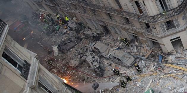 """Explosion rue de Trévise: une personne """"vraisemblablement"""" toujours disparue, selon le chef des pompiers"""