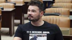 El 'hachazo' de Rufián a Pedro García Aguado tras lo que le soltó a Carmen Calvo por un tuit