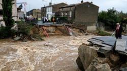 À Villegailhenc, ce pont coupé en deux montre la violence des