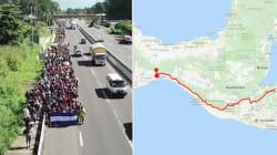 En route vers les États-Unis, les deux caravanes de migrants progressent par le même