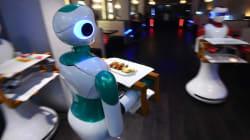 El futuro cada vez más cerca: Ginger, el robot que atiende mesas en