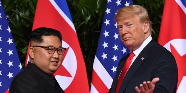 Donald Trump et Kim Jong Un lors de leur rencontre en juin 2018.