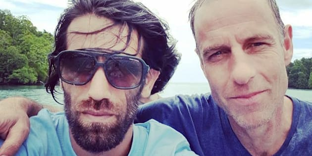 Nick McKim with Behrouz Boochani, a Kurdish journalist detained on Manus Island.