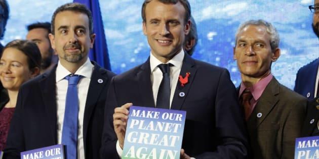 """Macron dévoile les 18 lauréats de son projet """"Make Our Planet Great Again"""""""