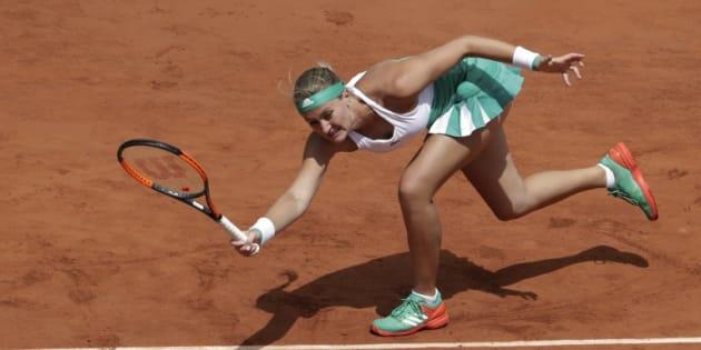 Kristina Mladenovic à Roland-Garros le 6 juin 2017.