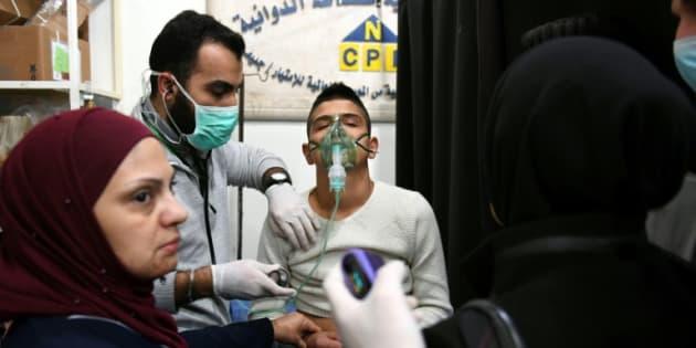 """El Observatorio Sirio de Derechos del Hombre (OSDH) habló de """"94 casos de problemas respiratorios"""", los cuales """"fueron atendidos y la mayoría fueron dados de alta."""