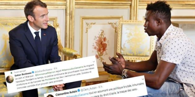 """Après la naturalisation de Mamoudou Gassama, les défenseurs des migrants déplorent """"l'hypocrisie"""" de Macron"""