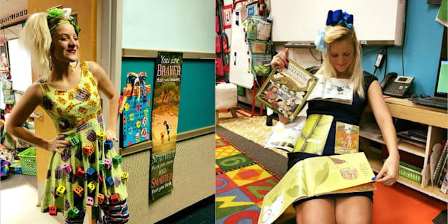 Pour ShaRee Castlebury, à chaque matière son costume original pour aider ses élèves à rentrer dans le cours.