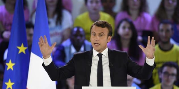 Emmanuel Macron à Paris le 1er mai 2017.