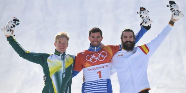 Le Français Pierre Vaultier médaille d'or en snowboardcross