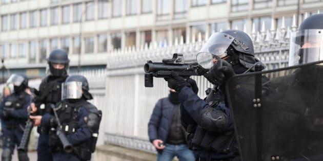 Cette résolution du Parlement européen sur les violences policières va déplaire à Castaner (photo d'illustration prise le 9 février à Paris lors d'une manifestation des gilets jaunes)