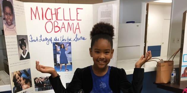 Michelle Obama a donné un 20/20 à l'exposé de cette jeune fille