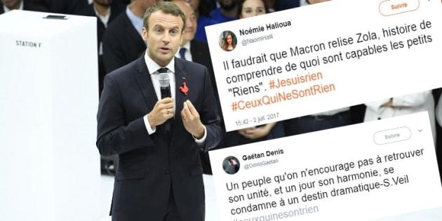 """Indignés par le """"ceux qui ne sont rien"""" de Macron, ils répliquent avec des références culturelles"""