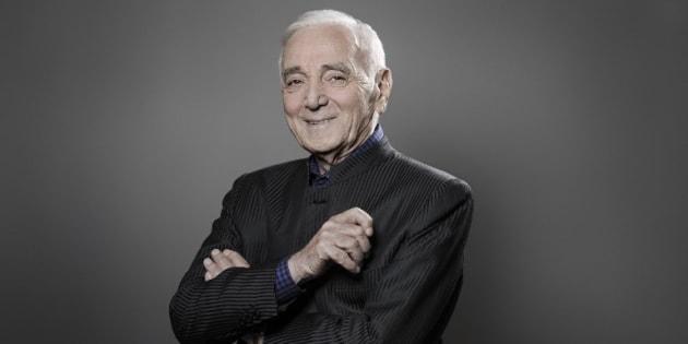 Charles Aznavour, le 16 novembre 2017 à Paris. / AFP PHOTO / JOEL SAGET