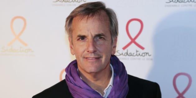 Bernard de la Villardière lors de la soirée du Sidaction, le 10 mars 2014.