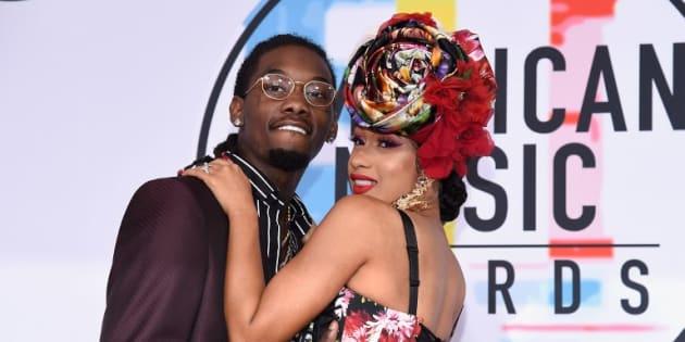 Offset et Cardi B lors de la 46ème cérémonie des American Music Awards, le 9 octobre 2018 à Los Angeles.
