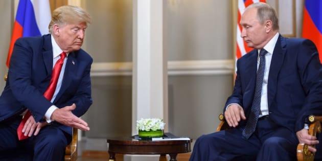 """Donald Trump y Vladimir Putin iniciaron una histórica cumbre en Helsinki, de la cual, el mandatario estadounidense espera una relación """"extraordinaria""""."""