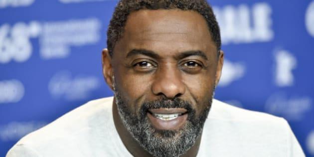 """Idris Elba lors de la conférence de presse pour son film """"Yardie"""" à la Berlinale, le 22 février 2018."""
