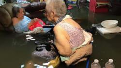 El rescate de 15 ancianos que conmueve a