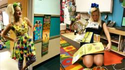 Cette institutrice transforme ses robes en véritable jeu pour aider ses élèves à mieux