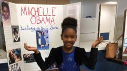 Michelle Obama a donné un 20/20 à l'exposé de cette jeune