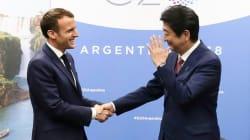 安倍首相、マクロン仏大統領が会談 日産・ルノー・三菱3社連合めぐり議論