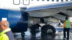 Aterrizaje de infarto: Avión de Aeroméxico sufre ponchadura de llantas al llegar a