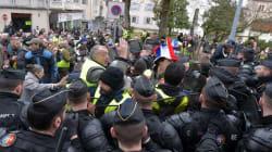 Premiers heurts à Souillac avant l'arrivée de Macron pour le grand