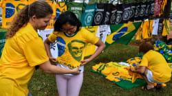 FOTOS: simpatizantes de Jair Bolsonaro se preparan para la