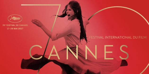 L'affiche du 70ème festival de Cannes.