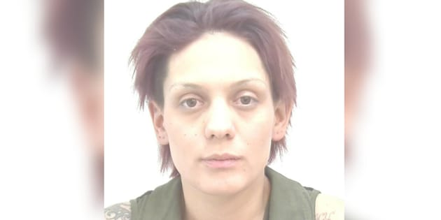 Jessica Vinje is seen in a Calgary police photo. Vinje is wanted in relation to a human trafficking case.