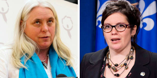 Female politicians in Quebec are speaking out about experiences of sexual assault and harassment at work. Manon Masse, left, and Karine Vallieres, right, agreed to be identified by the Canadian Press.