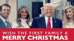 Los Trump olvidaron a un integrante de la familia en su tarjeta
