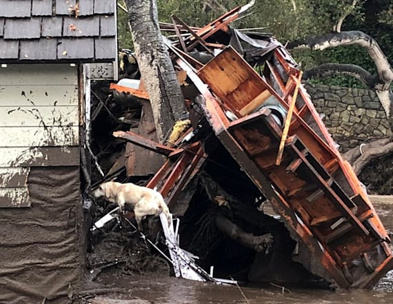 Photos show damage from California mudslides