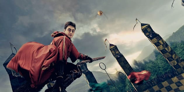 Harry Potter, en un partido de 'quidditch'