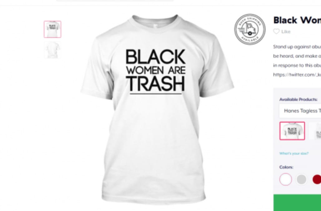 515c5adc Store apologizes for selling 'Black Women Are Trash' shirts - AOL News