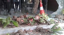 Caught On Camera: Lathi-Wielding Mob Smashes Flower Pots, Destroys Property At Kolkata Hospital For Patient's