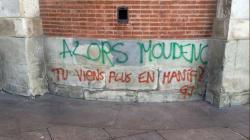 À Toulouse, les gilets jaunes ont laissé un message plein d'ironie à leur
