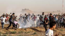 Cientos de palestinos vuelven a protestar en la frontera de Gaza con